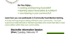 Blackville Community Food Mentors Information Session