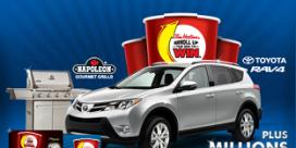 Miramichier RRRolls Up The Rim to Win a 2013 Toyota RAV4