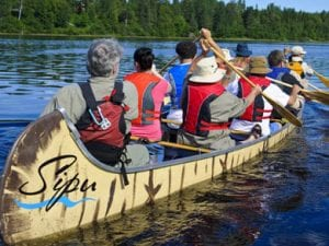 Voyageur Canoe to Paddle Alongside Tall Ships