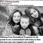 The Tutoring Centre Seeks Volunteers
