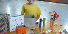 Caden Whyte Sells Crafts for Charity