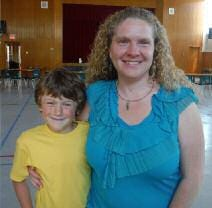 Rhonda Whyte proudly poses with her son, Caden.
