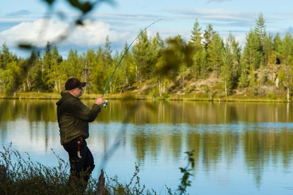 Fisherman and landscape