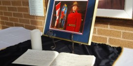 Condolence Book for Cst. David Wynn Set Up in Miramichi