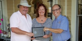 Bruce MacKinley receives Rotary International Spouse/ Partner Service Award