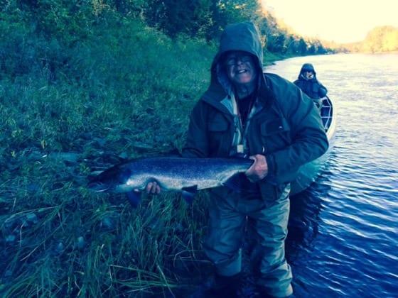 Ralph Goodwin with a nice October salmon
