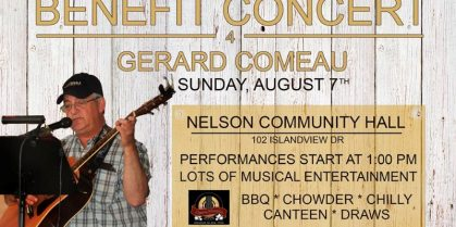Benefit Concert for Gerard Comeau August 7th