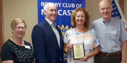 Geri Mahoney Awarded Rotarian of the Year