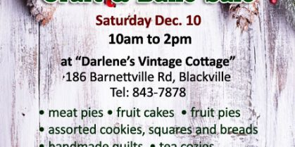 Country Christmas Craft & Bake Sale