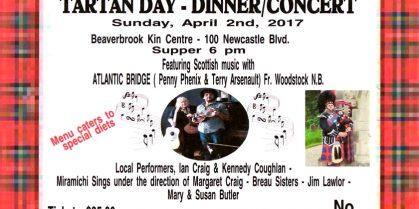 Tartan Day – Dinner / Concert