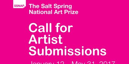 Call for Artist Submissions, $30,000 in Awards for Salt Spring National Art Prize