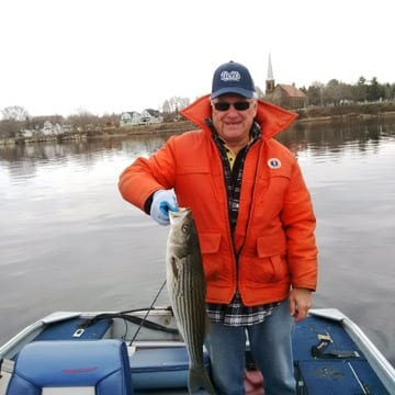From our archives: Bill Seymour with a nice striped bass 2015