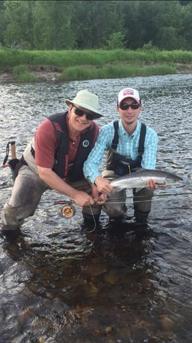 Ledges guide Kyle Price with Grilse caught this week by Ledges guest