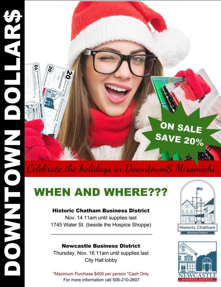 Downtown Dollars on Sale… Shop Local and Save.