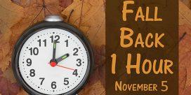 Turn Back the Clocks – Sunday November 5th
