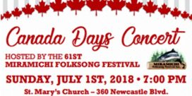 61st Miramichi Folksong Festival Canada Days Concert at Saint Mary's Roman Catholic Church