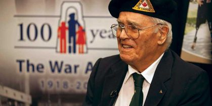 """Second World War Veteran Reflects on War Amps 100 Years of """"Amputees Helping Amputees"""""""