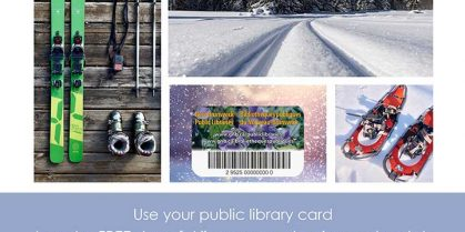 Free Trail Pass at Miramichi Cross Country Ski Club with a NB Library Card