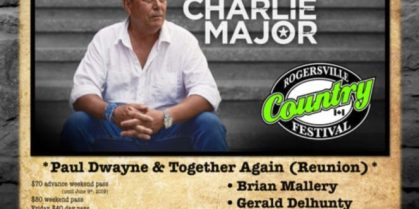 Rogersville Music Inc. Country Music Festival – June 21st to 22nd, 2019