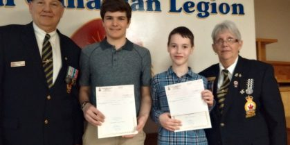 Royal Canadian Legion Branch # 3 Chatham   Literary Awards Presented