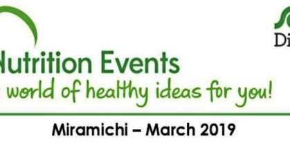Nutrition Events for March 2019 at the Douglastown Sobeys