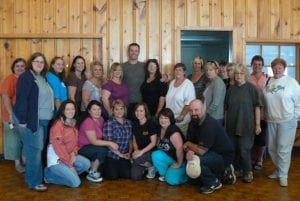 Some of the Mighty Miramichi Biggest Loser 3 participants with Paul Plakas.
