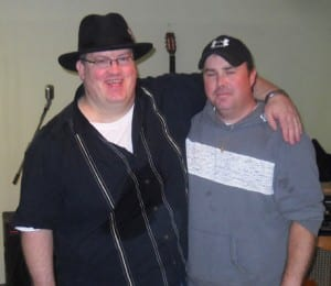 Terry Whalen, ECMA nominee, shown here with a friendly drummer Danny MacVicar.