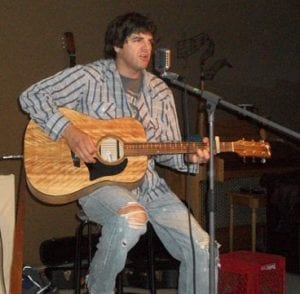 Darren McKinnon performs at the Miramichi Folklore Park in Renous for a Friday Night Racket.