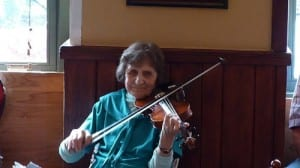 Matilda Murdoch, still writing and playing music at 93 years old.