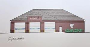 Blackville Fire Hall sketch.