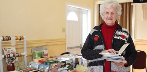 Lois Corney from the Blackville Women's Institute at last year's craft sale