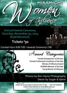 Women of Influence Miramichi awards gala