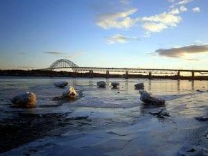 """Mini-burgs"" on the Mighty Miramichi River. Photo by Jeff Pendlebury."