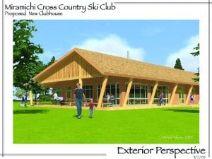 Proposed Miramichi Cross Country Ski Club, exterior perspective.