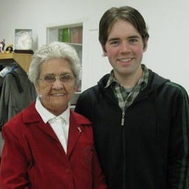 Gram and I at the Keenan Christmas party, December 2009.