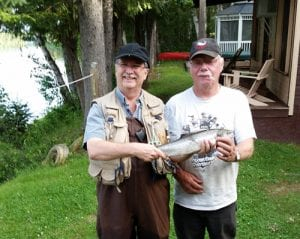 Brian Affleck at Glen Hollowoods in Blackville. Nice bright fish caught around 7pm on July 10.