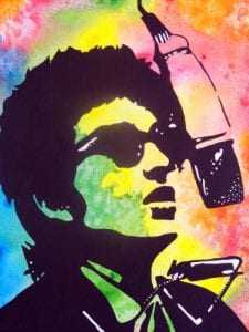 Bob Dylan (Acrylics and Watercolours)