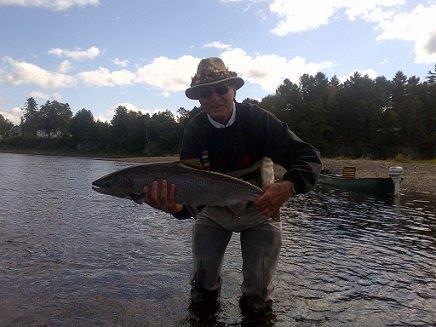 MSA chairman David Wilson with a nice salmon at Ledges last week.