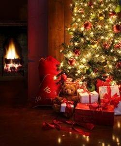Christmas scene with tree
