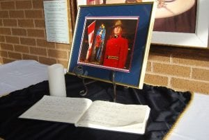 Book of condolence for Cst. David Wynn