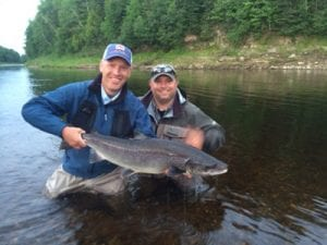 Ledges guest Mike Vorhoef with a 24 lb hookbill. Nice salmon for his first one. Hard to top that one