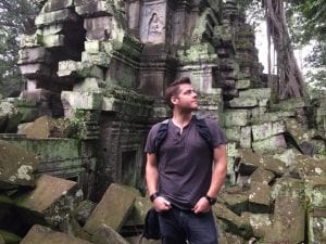 Greg Trevors shooting on location in Angkor Wat, Cambodia for My Amazing Pen Pal.