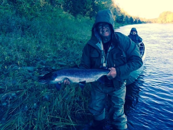 Ralph Goodwin with a nice October salmon