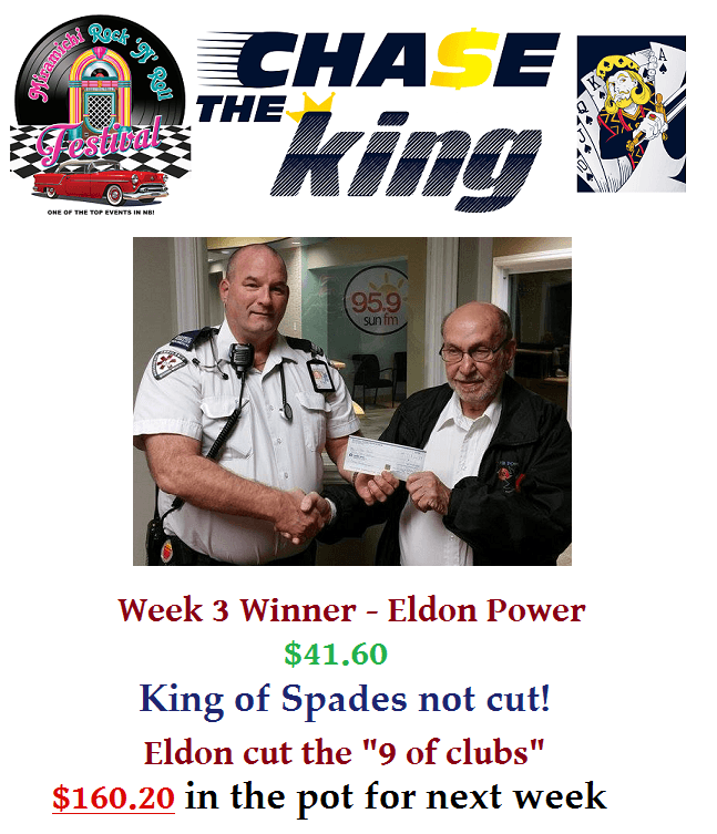 Chase The King Week 3 Winner