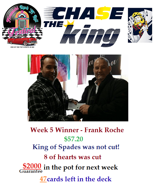Chase The King Week 5 Winner