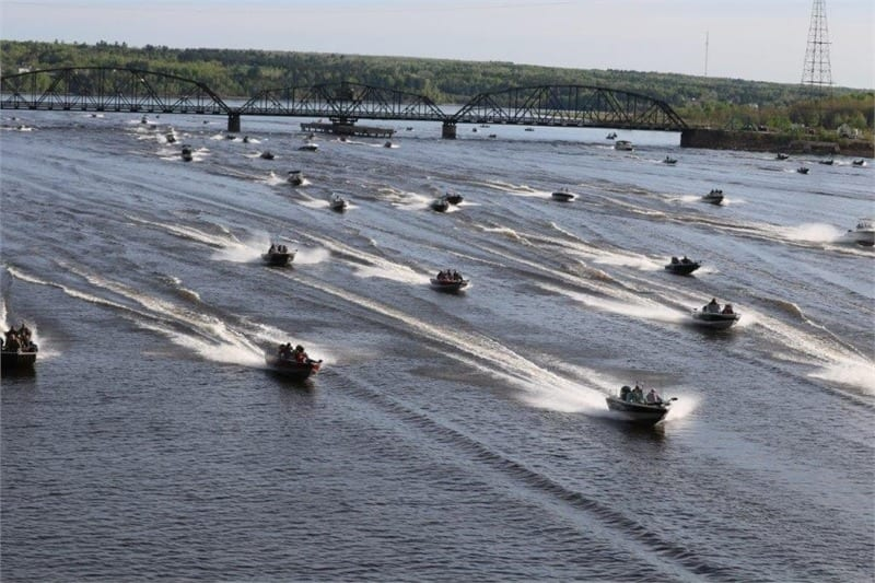 And they're off at the Miramichi Striper Cup!