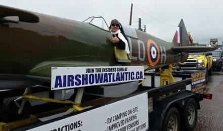 Air Show Spitfire in Miramichi