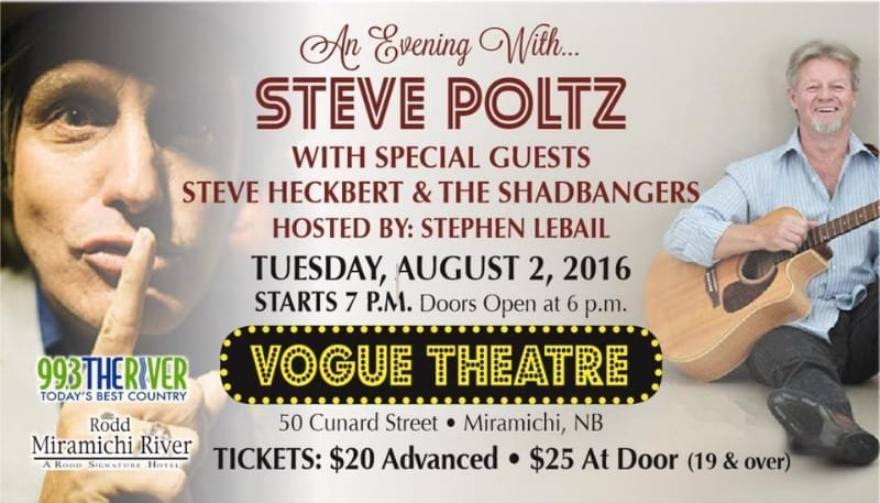 An Evening with Steve Poltz at the Vogue Theatre