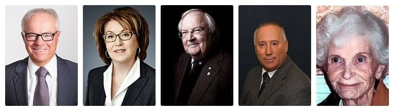 2017 Recipients of the Order of New Brunswick