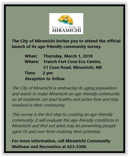 City of Miramichi Age Friendly Survey Launch